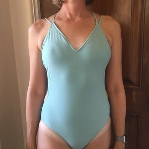 Teal one piece bathing suit NWOT